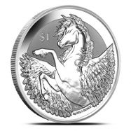 Brand New 2019 1oz Silver BVI Pegasus Reverse Frosted Coin with capsule /& pouch