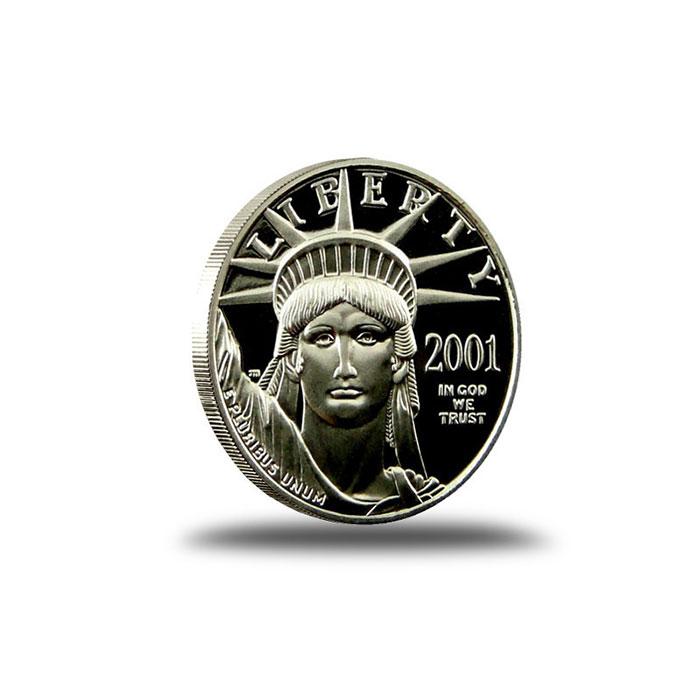 1/10 oz American Platinum Proof Eagle Coin Obverse