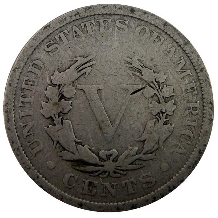 "Good+ Liberty ""V"" Nickel Reverse"