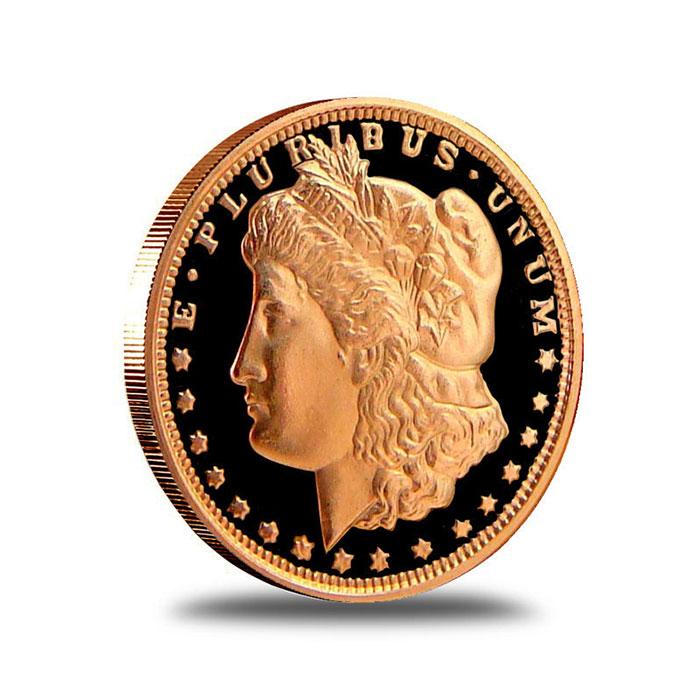 Morgan Dollar 1/2 AVDP oz .999 Fine Copper Bullion Round Obverse
