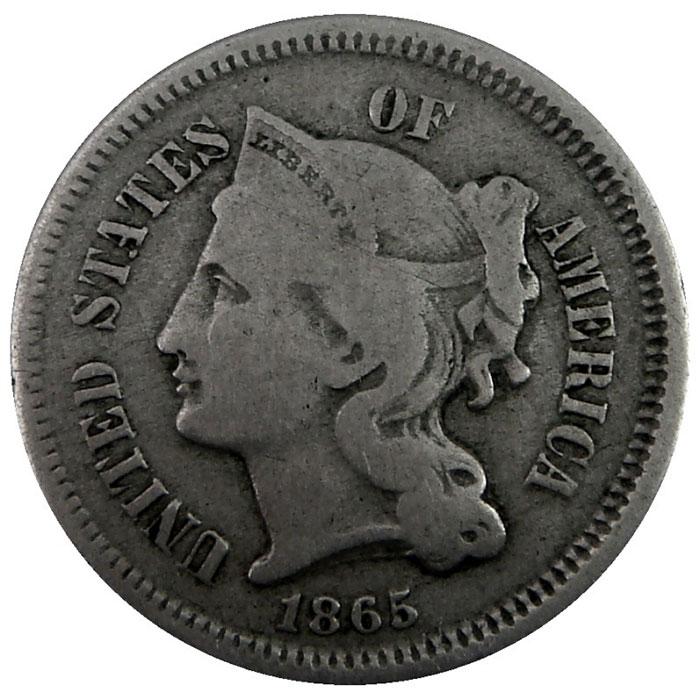 Three Cent Nickel Piece Obverse