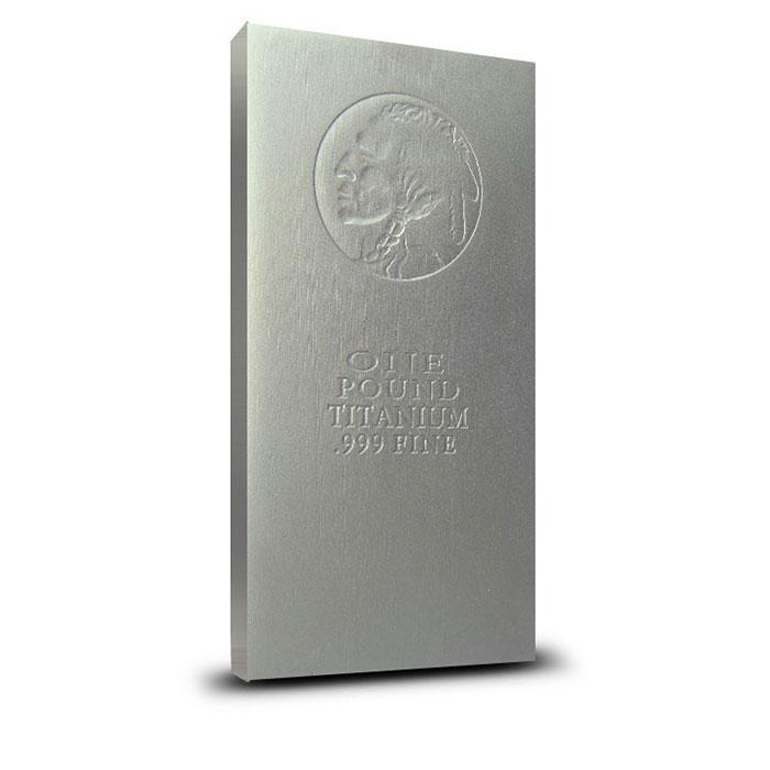 1 Pound Indian Head .999 Fine Titanium Bullion Bar