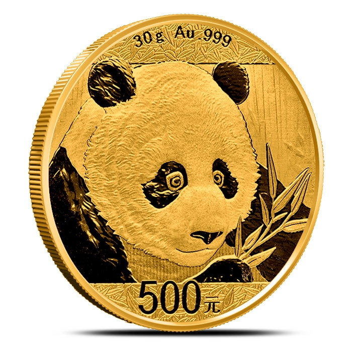 30 gram Gold Panda No Plastic Reverse