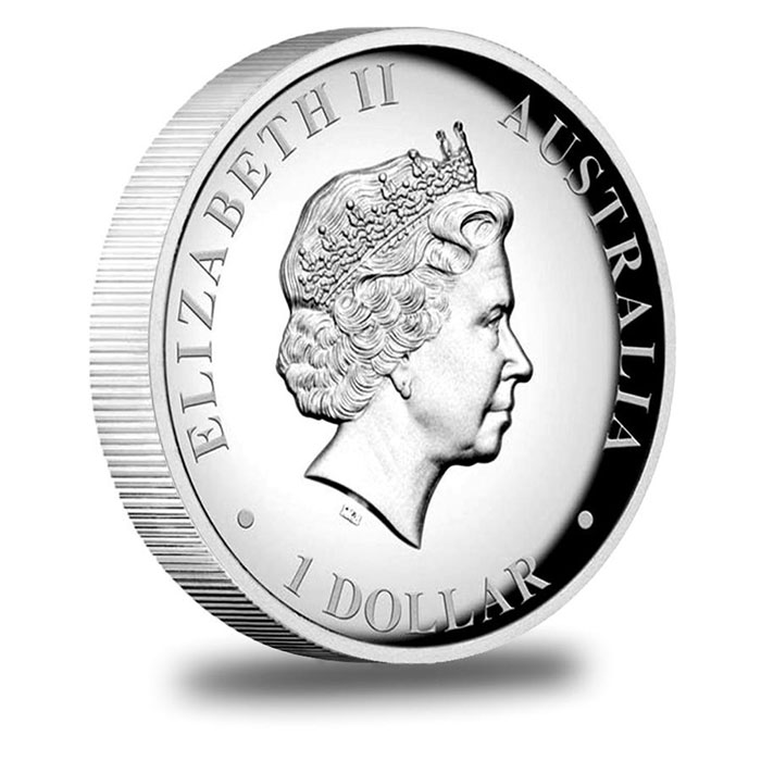 2011 1 oz Proof Silver Kangaroo High Relief Bulion Coin Obverse