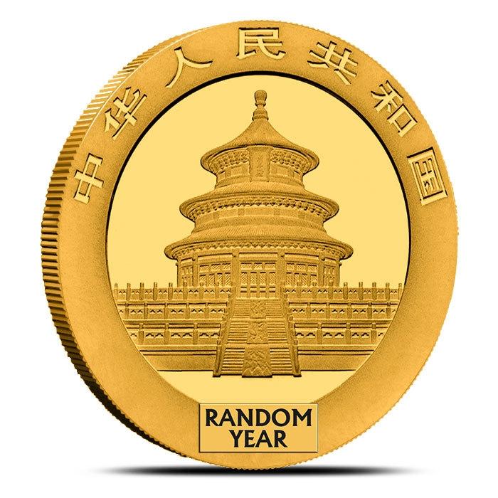30 gram Gold Panda No Plastic Obverse