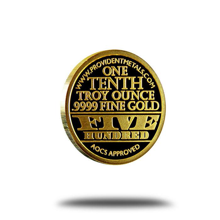 1/10th oz Ron Paul Proof-like Gold Bullion Round Reverse