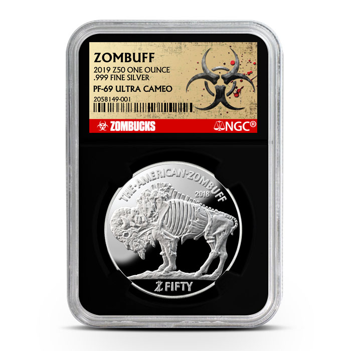 Zombucks Proof Zombuff NGC PF69 | Black Core Obverse