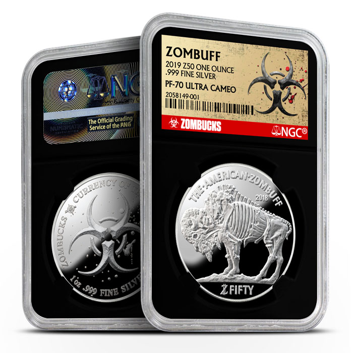 Zombucks Proof Zombuff NGC PF70 | Black Core