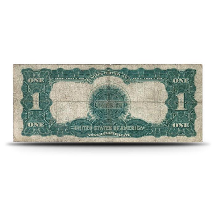 1899 Black Eagle $1 Silver Certificate VG+ Reverse