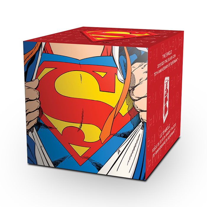 2013 Superman S Shield Silver Canadian Coin Graphic Box