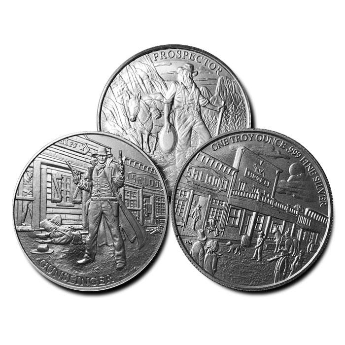 Gunslinger & Prospector Silver Rounds