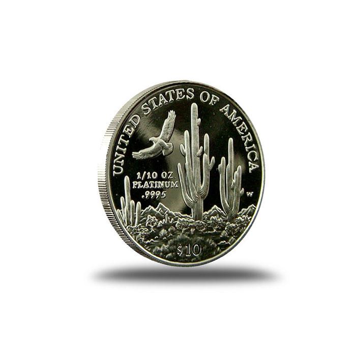 1/10 oz American Platinum Proof Eagle Coin Reverse