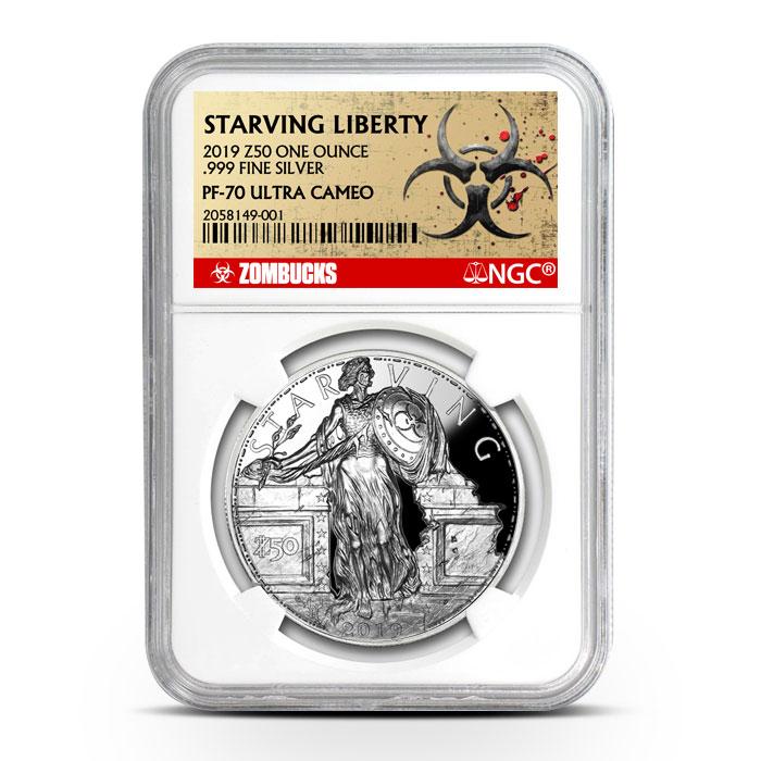 Zombucks Starving Liberty | NGC PF70