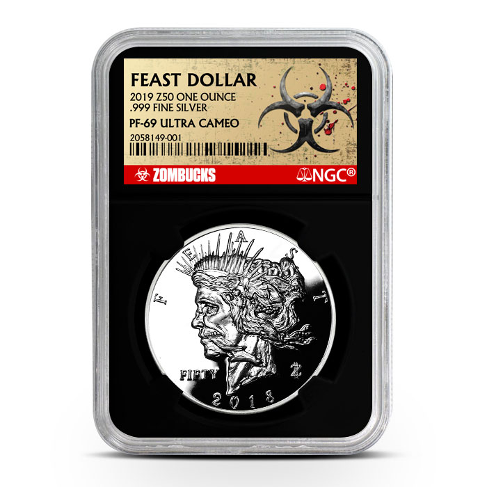 Zombucks Feast Dollar NGC PF69 | Black Core