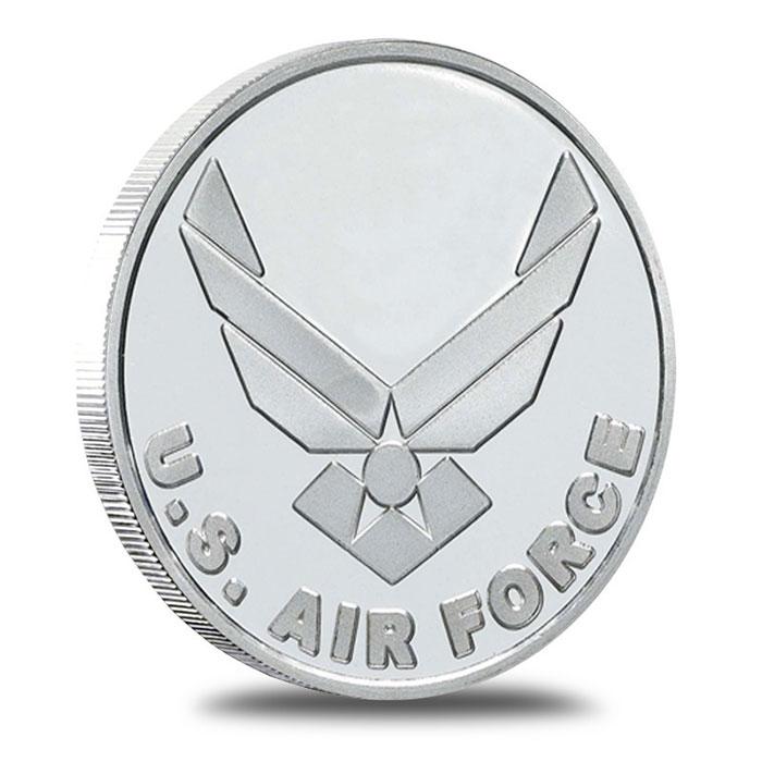 US Air Force 1 oz .999 Fine Silver Bullion Round Obverse