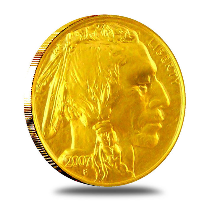 2007 1 Oz Gold Buffalo Coin Obverse