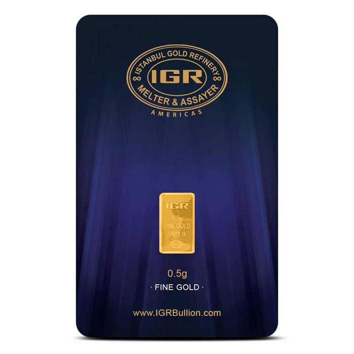1/2 gram Gold Bar | Istanbul Gold Refinery