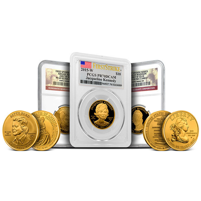 1/2 oz First Spouse $10 Gold Bullion coins
