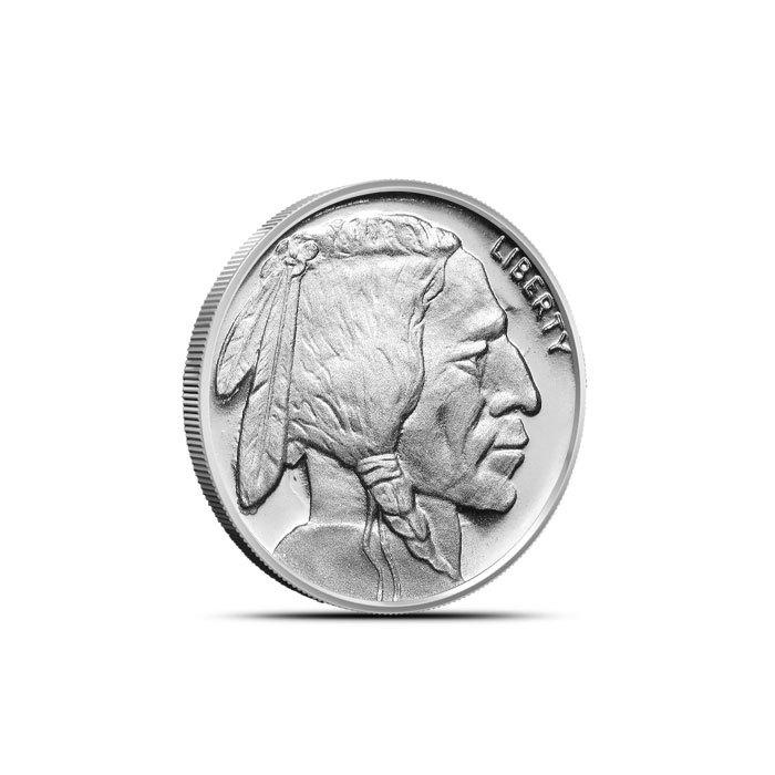 1/10 oz Silver Buffalo Round Front