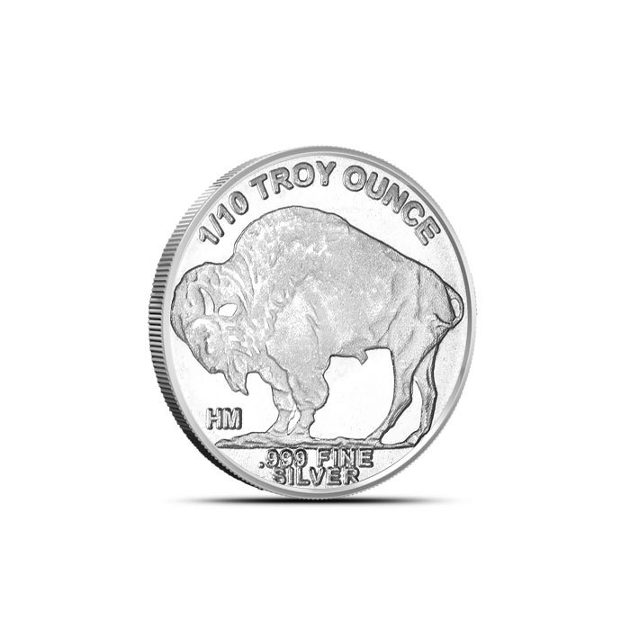 1/10 oz Silver Buffalo Round Back