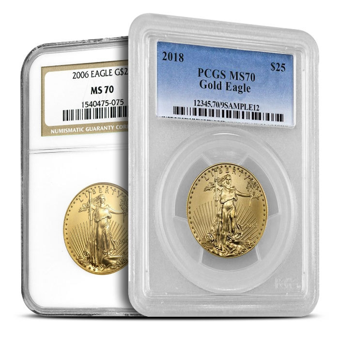 1/2 oz American Gold Eagle MS70 Our Choice