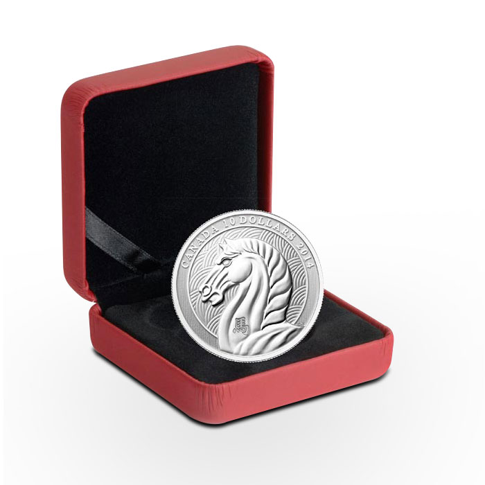 1/2 oz Silver 2014 Canadian Year of the Horse in box