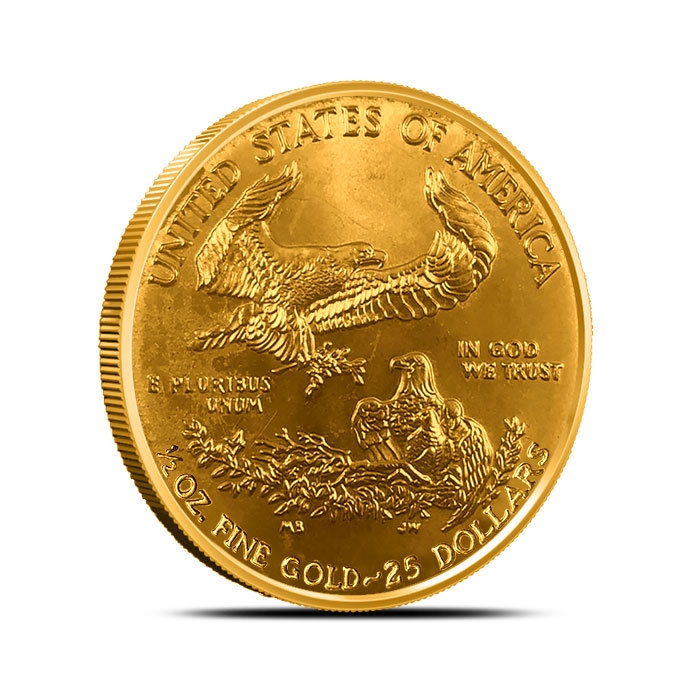 1/2 oz American Gold Eagle Low Premium reverse