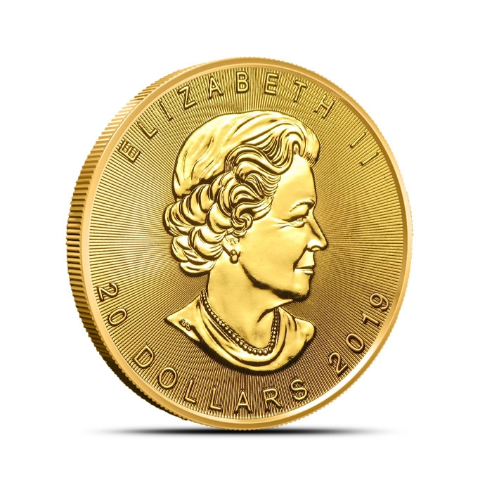 2019 Canadian 1/2 oz Gold Maple