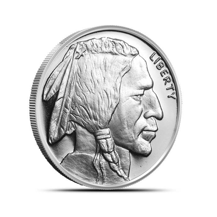 1/2 oz Silver Buffalo Round Front