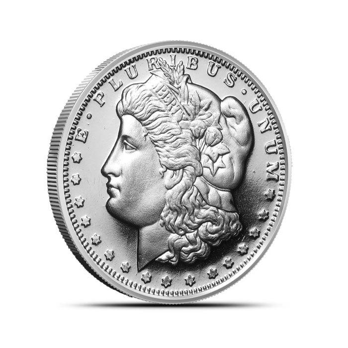 1/2 oz Silver Morgan Round Front