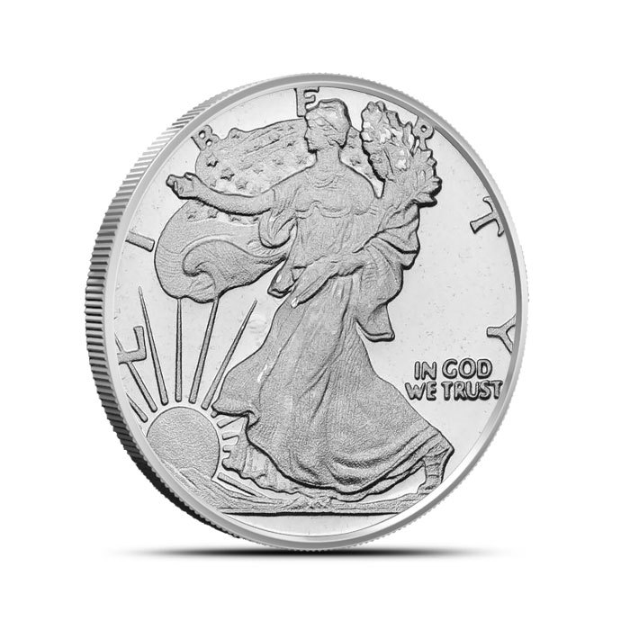 1/2 oz Silver Walking Liberty Round Front
