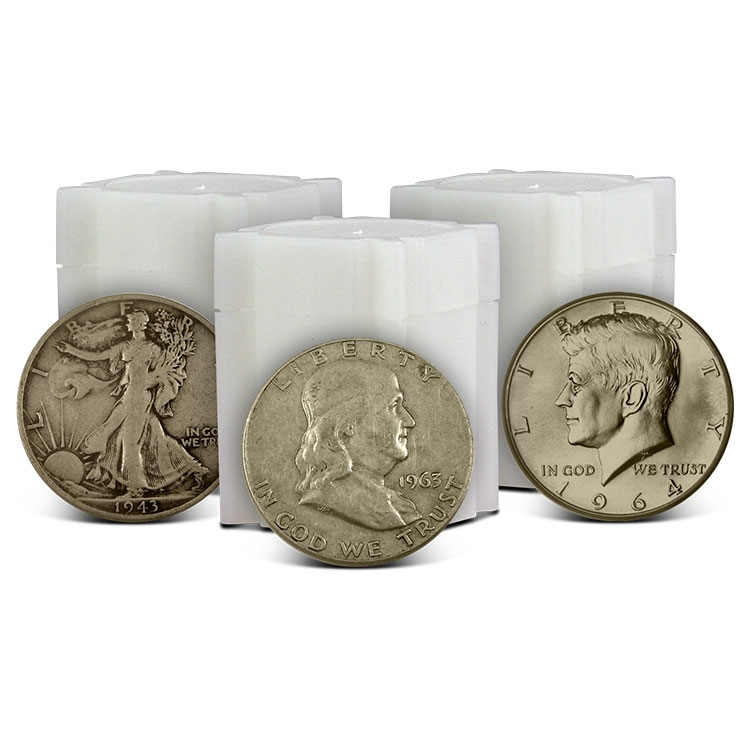 Half Dollar Roll Type Set | Walking Liberty, Franklin & Kennedy