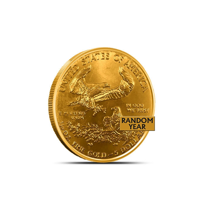 1/4 oz American Gold Eagle Low Premium Reverse