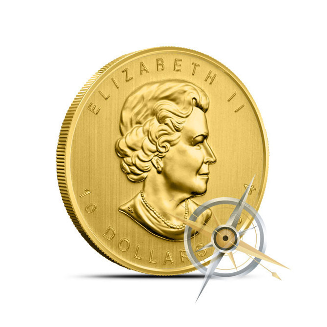 2014 1/4 oz Canadian Gold Maple Leaf Coin