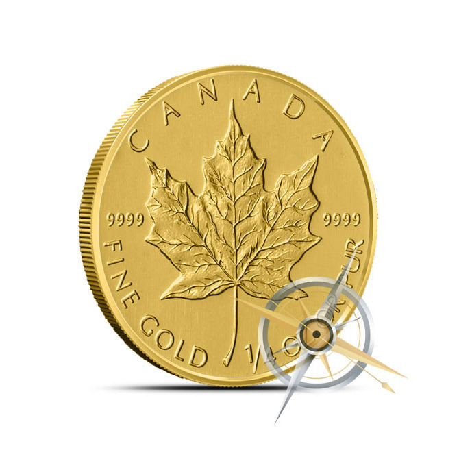 2014 Quarter Ounce Canadian Gold Maple Leaf Coin Reverse