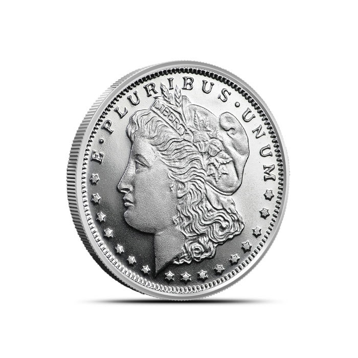 1/4 oz Silver Morgan Round Front