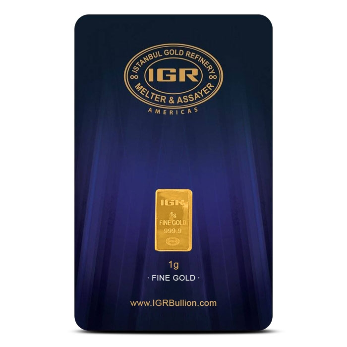 1 gram Gold Bar | Istanbul Gold Refinery