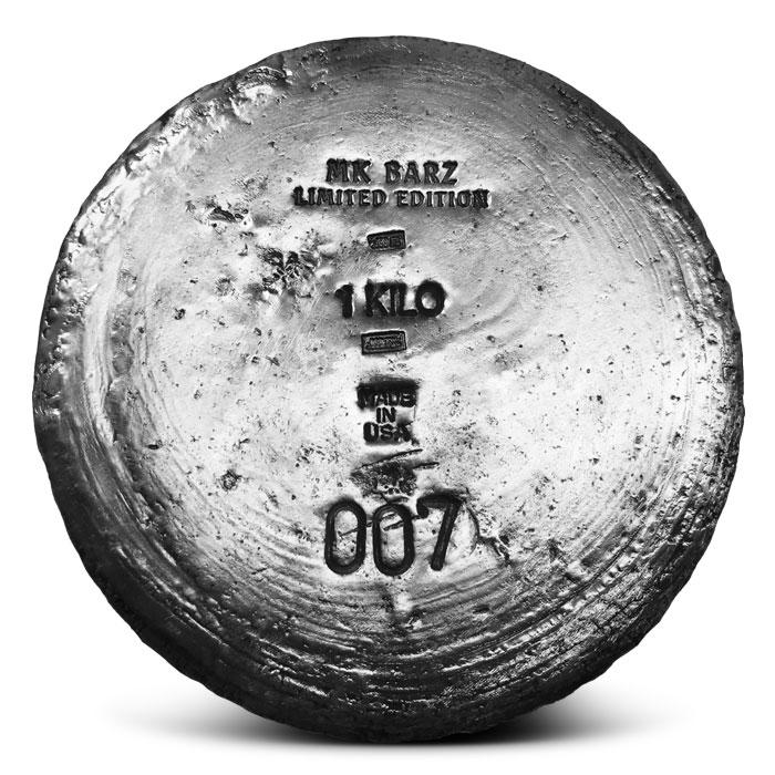1 kilo Poured Silver Round | MK BarZ
