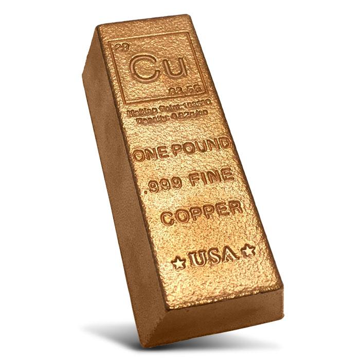 Elemental 1 pound Copper Ingot