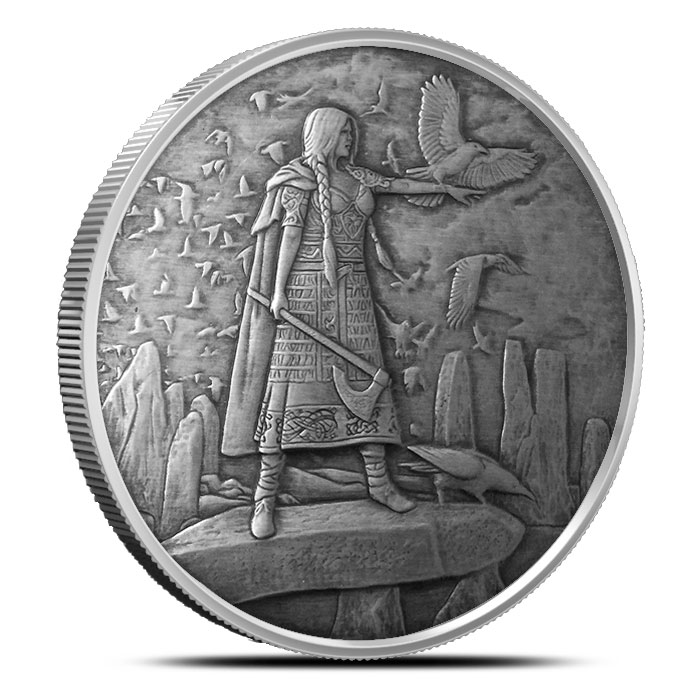 The Morrigan 1 oz Silver Antique