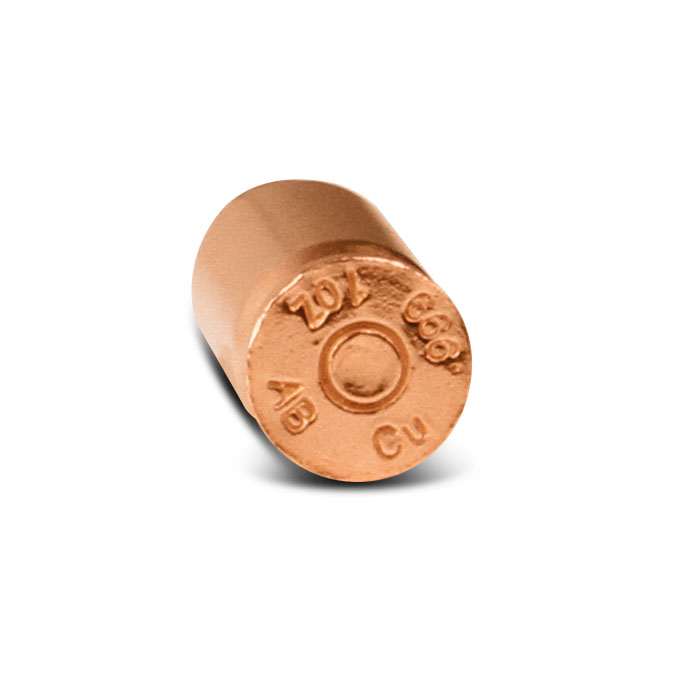 1 oz Copper Bullet | .45 Caliber ACP