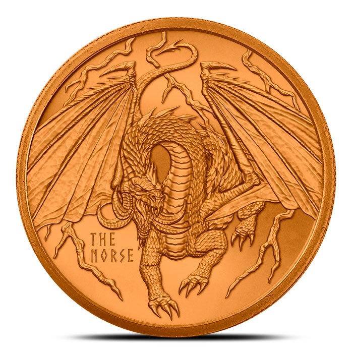 The Norse 1 oz Copper Round Front