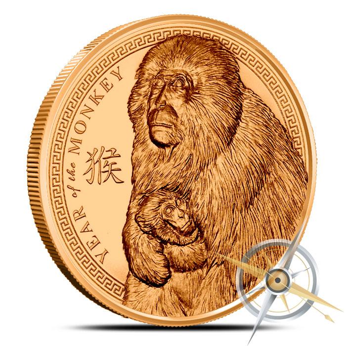2016 Year of the Monkey 1 oz Copper Round