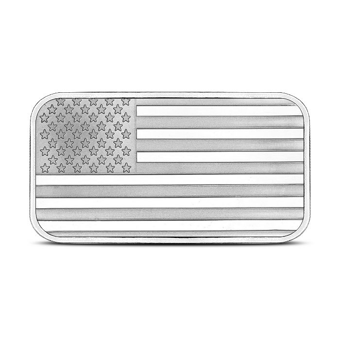1 oz Silver Bar American Flag