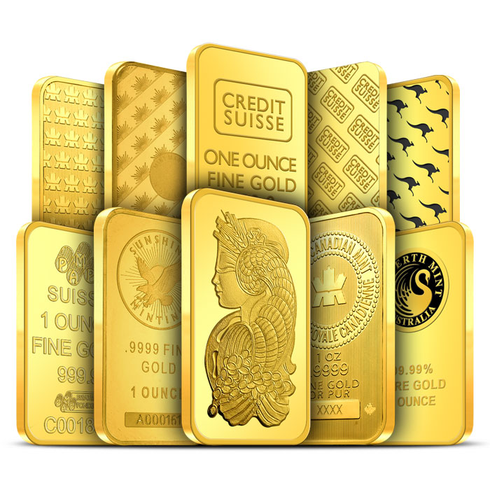 1 oz Gold Bars without Assay Card