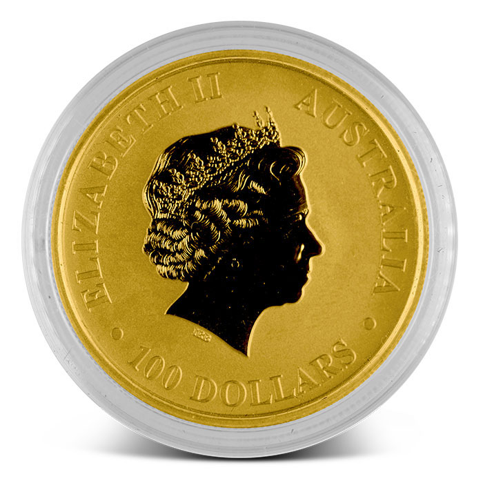 1 oz Australian Gold Kangaroo Coin Obverse