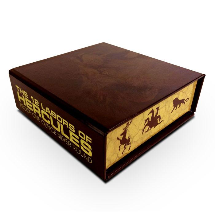 1 oz Silver Proof Hercules Closed Box