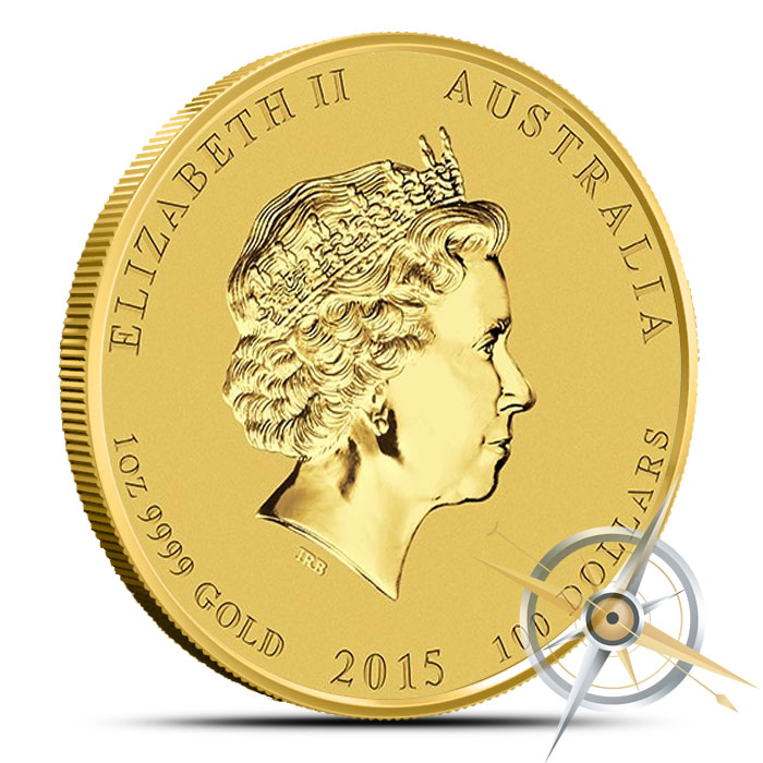 2015 1 oz Gold Year of the Goat | Lunar Series II