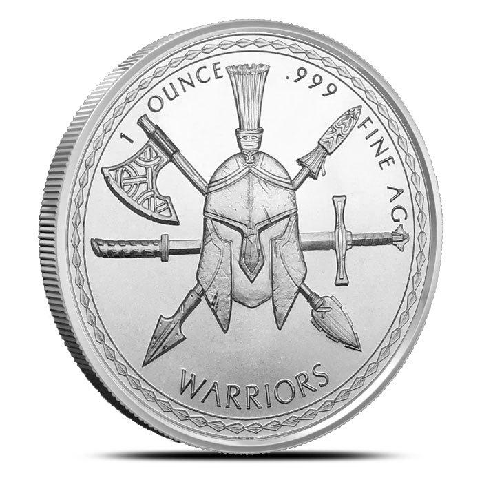 1 oz Silver Aztec Warrior Round Reverse
