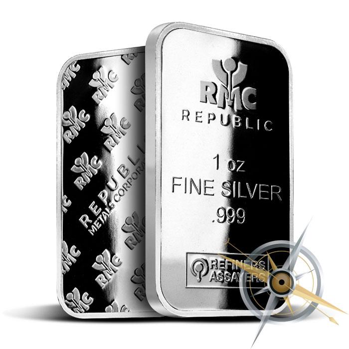 1 oz Silver Bar | Republic Metals Corporation